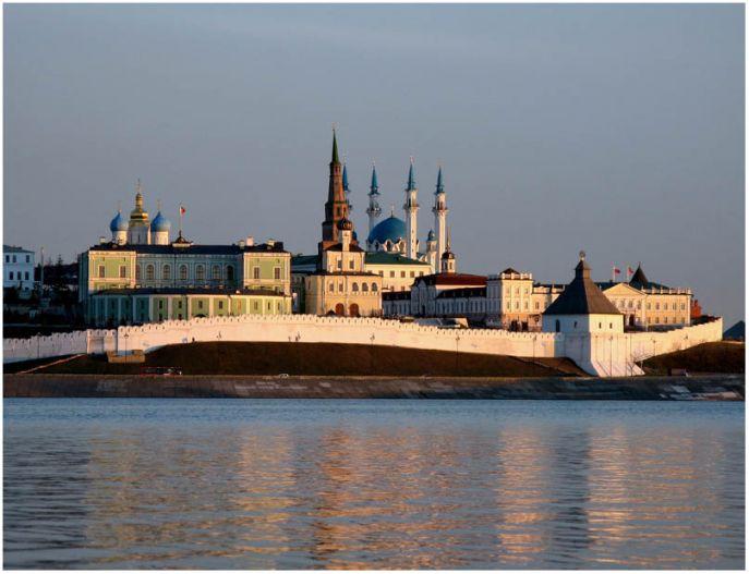 Zicht op de stad Kazan